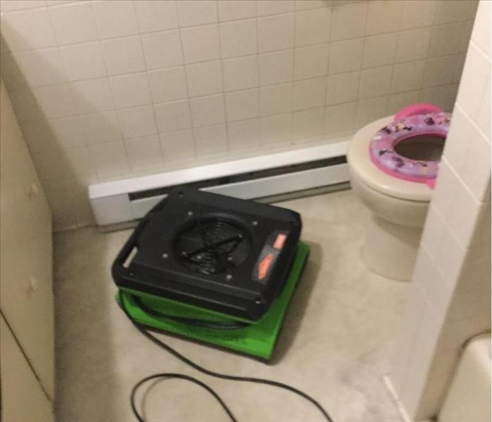 Toilet Overflow Cleanup in Somers CT - After shot of toilet overflow