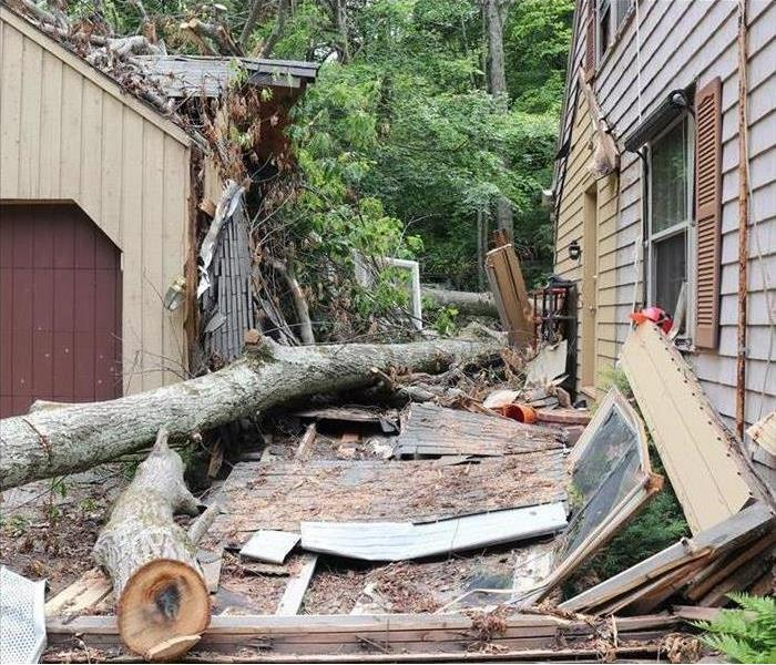 Storm Damages Home in Hamden CT